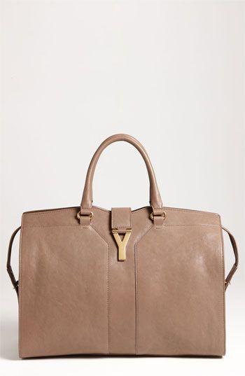 5d749966950e Yves Saint Laurent Cabas Chyc Large Leather Satchel