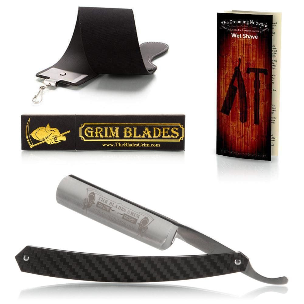 Dovo Blades Grim Straight Razor Luxury Set Straight Razor Classic Shaving Blade