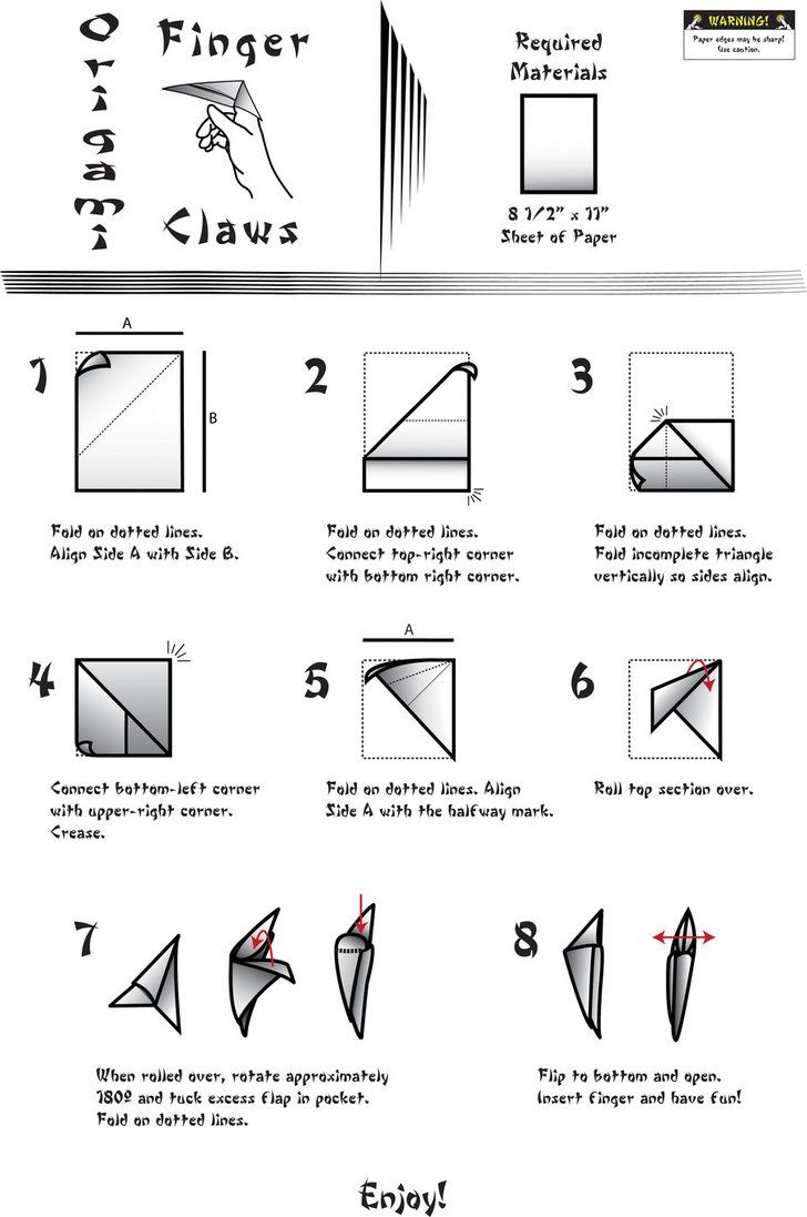 sweet origami claws origami claws by hairaito shion on