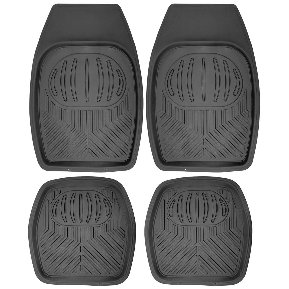 Rubber floor mats nissan rogue - Car Floor Mats For Honda Accord 4pc Set All Weather Rubber Pan Tech Fit Black