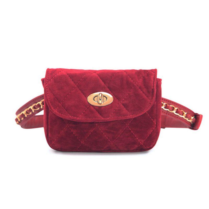 161877ef18d man portrait Hot Sale Women Lint Waist Pack Chain Belt Waist Bags ...