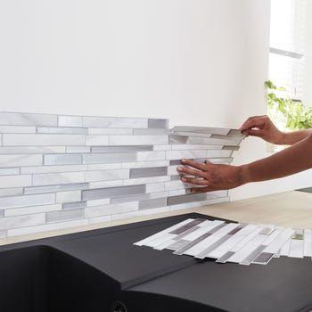 Credence Adhesive Smart Tiles Milano Gris 29 34 X 24 46 Cm Leroy Merlin En 2020 Carrelage Intelligent Credence Adhesive Cuisine Credence Adhesive
