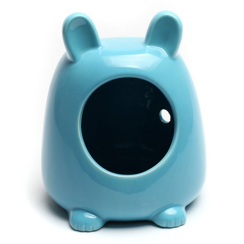 cheap blue and pink hamster ceramic house small pet bedding hutch online