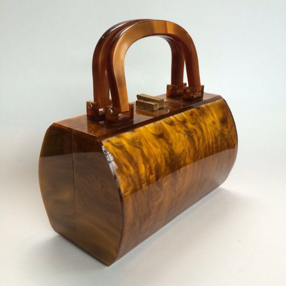 Tortoiseshell Lucite Handbag, late 1950's-early 1960's
