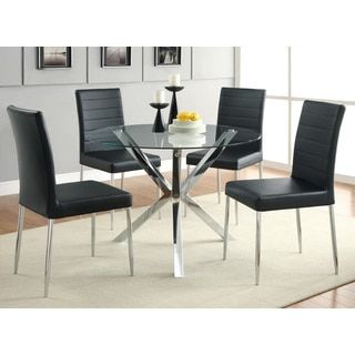 Shop For Coaster Company Chrome Glass Top Dining Tableget Free Stunning Coaster Dining Room Furniture Review