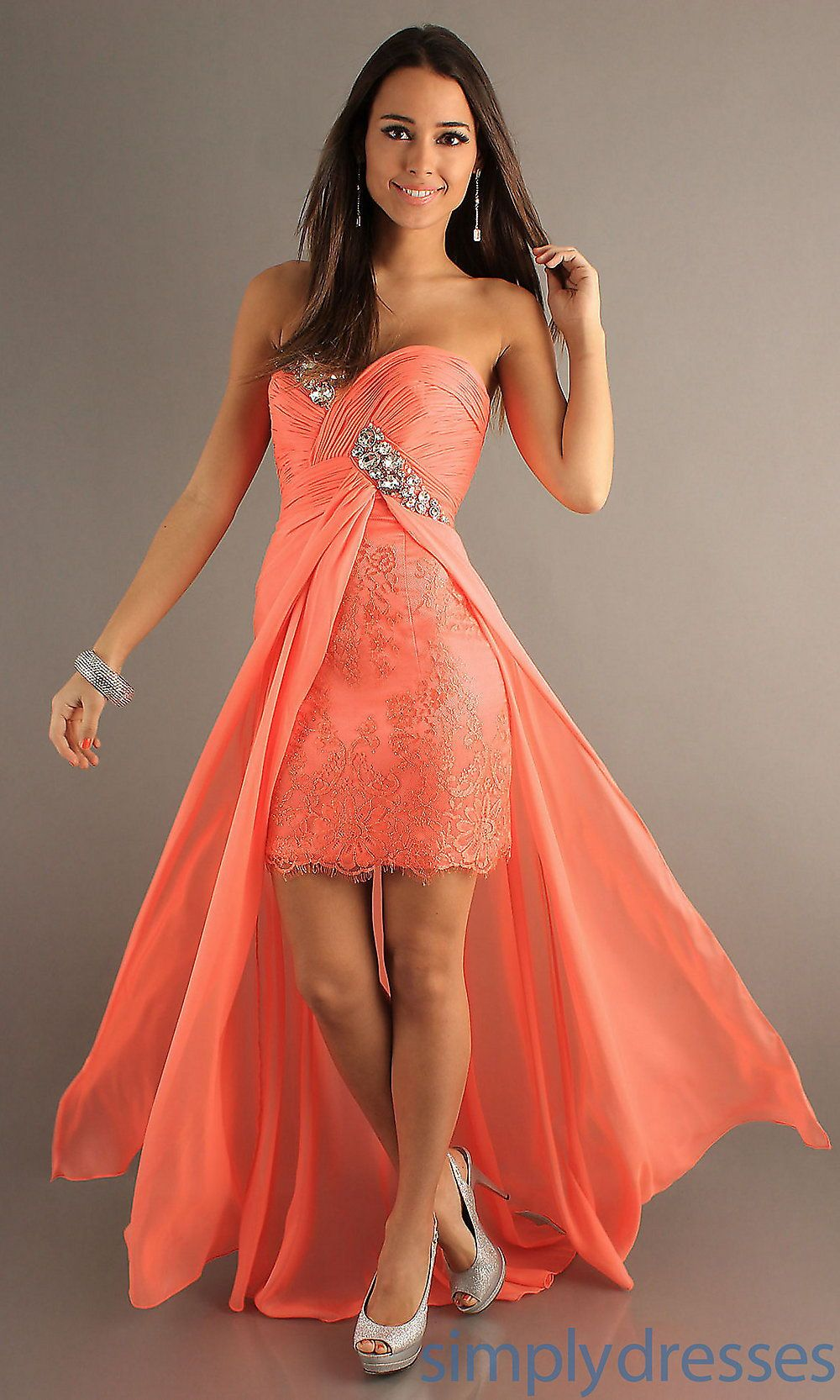 Black Person Bridesmaid Dresses In Coral Color 5 Wedding