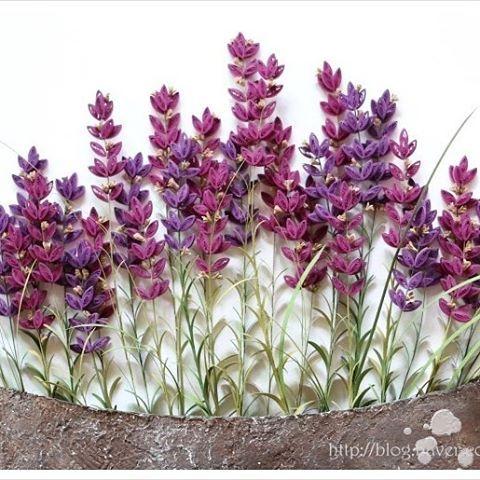 quilling - lavender #quilling#paperquilling #quillingflowers #quillingart#papercrafts #paperart#paperflowers#lavender #handmade #종이감기#종이감기공예#종이감기꽃#종이공예#종이꽃#핸드메이드#라벤더
