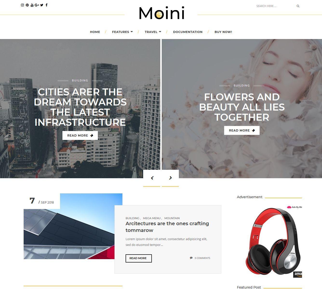 Moini Blogger Theme Free Blogger Themes Premium Blogger Themes Premium Blogger Themes Download Free In 2020 Blogger Themes Free Blogger Templates Blogger Templates
