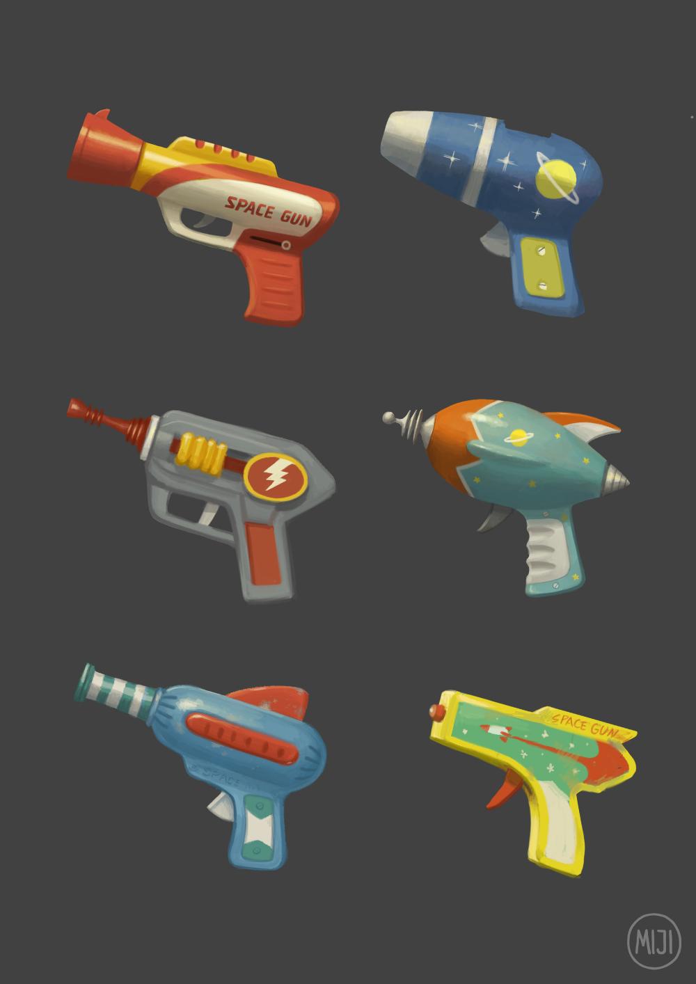 Artstation Space Guns Miji Lee Guns Illustration Guns Drawing Guns