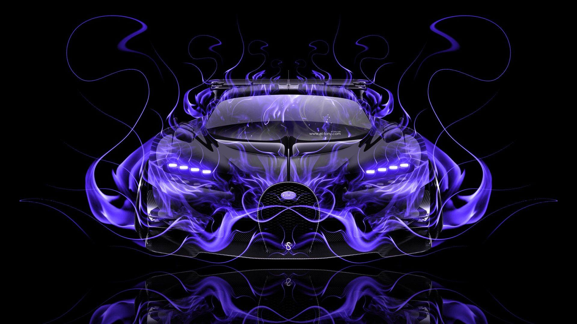 Mazda RX Vision Concept Side Super Fire Abstract Car 2015 Pink Violet Black Colors HD Wallpapers Design By Tony Kokhan Www.el Tony.com Image  (1u2026