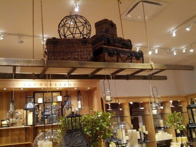 Pin By Dyani Lynn On Home Hanging Ladder Ceiling Shelves Ceiling Hanging