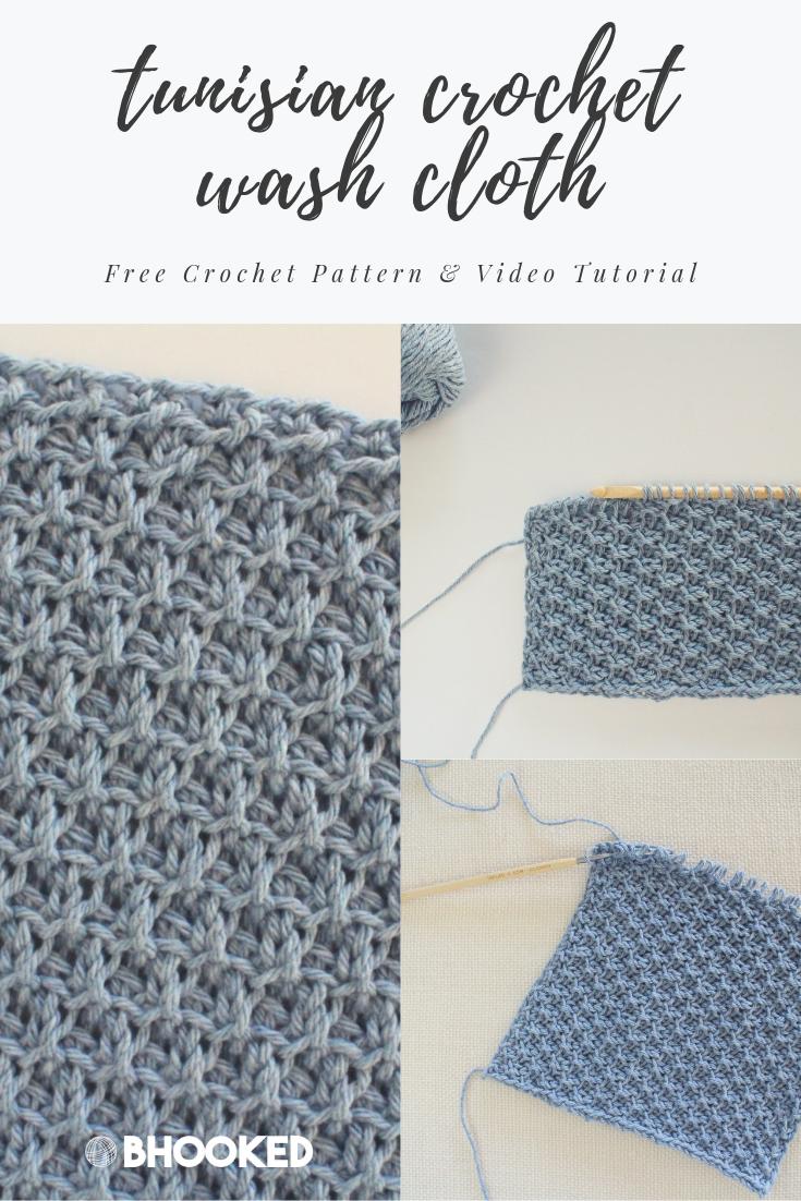 Clover Tunisian Wash Cloth Series: Pattern 4 - B.Hooked Crochet & Knitting