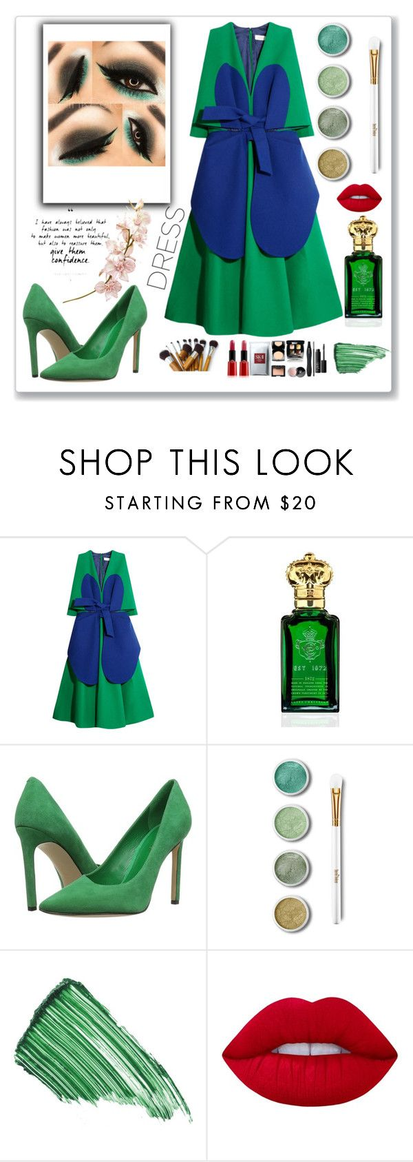 """""""Untitled #121"""" by missuwa ❤ liked on Polyvore featuring Delpozo, Clive Christian, Nine West, Terre Mère, By Terry and Lime Crime"""
