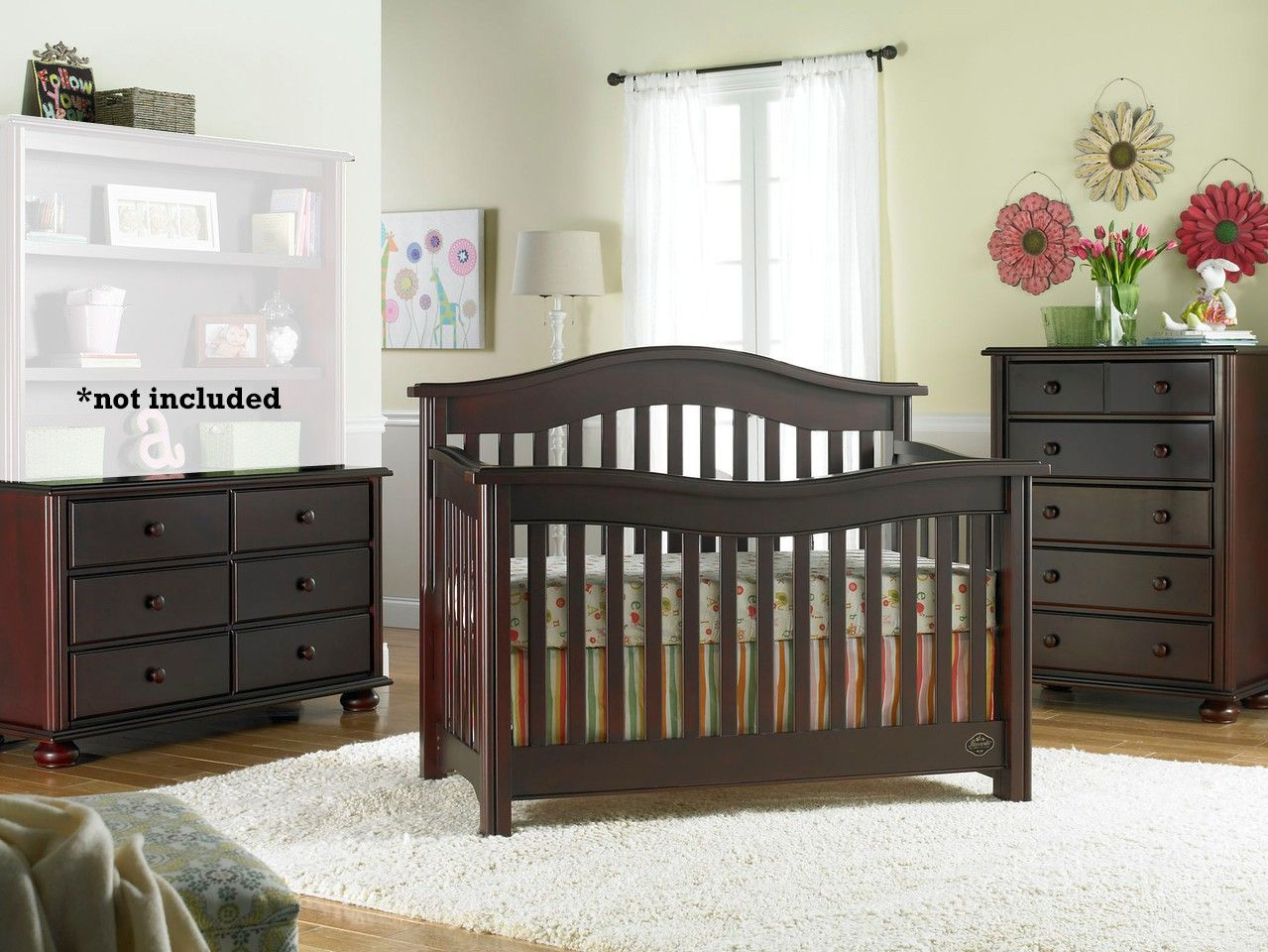 Bonavita Kinsley 3 Piece Nursery Set in Classic Cherry - Crib ...