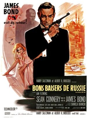 James Bons Baisers De Russie 1960 France Vintage Poster Reproduction Movie Posters French Movie Posters James Bond