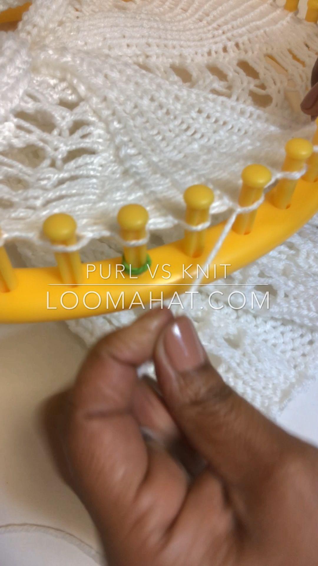 Photo of Loom Knit Purl vs Knit Stitch