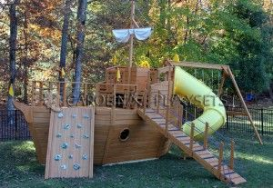 Pirate Ship Playhouse for the Boys