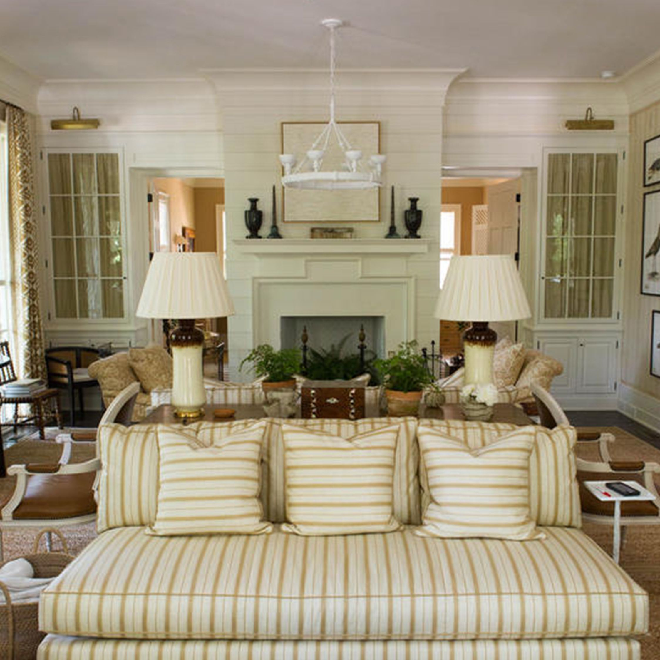 Back To Back Sofas // Southern Living Show House 2016 | Mark D. Sikes