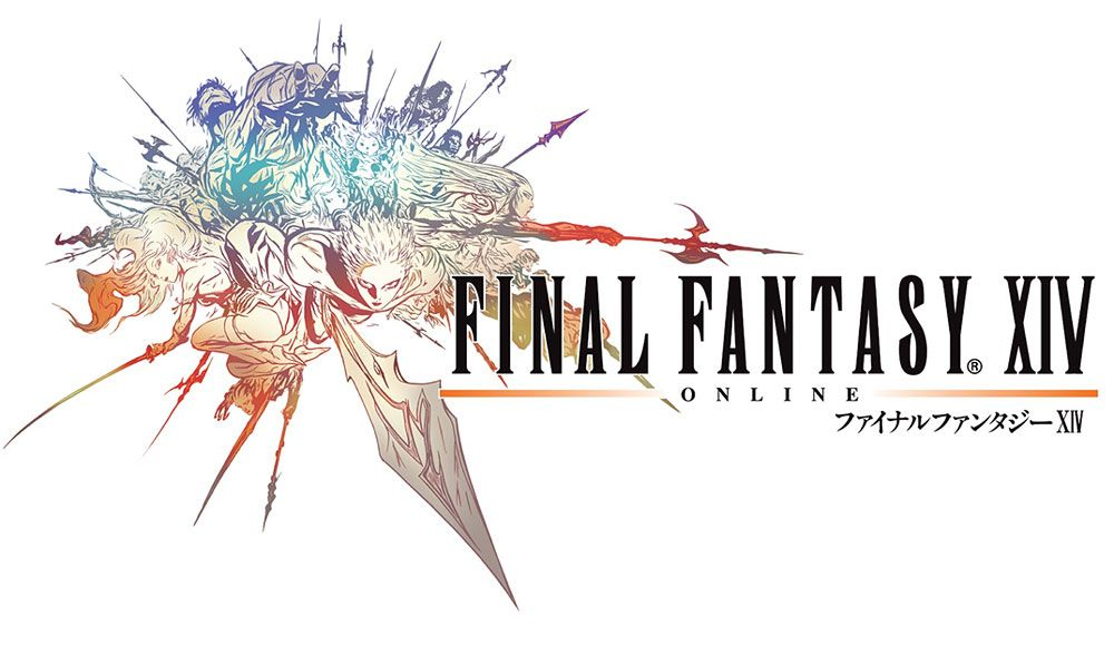 logo characters art final fantasy xiv ファイナルファンタジーxiv 天野喜孝 イラスト