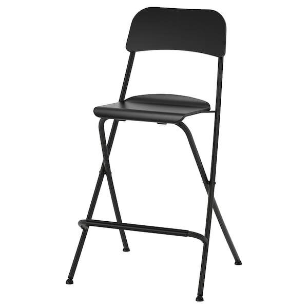 Franklin Chaise De Bar Pliante Noir Noir 63 Cm Mobilier De