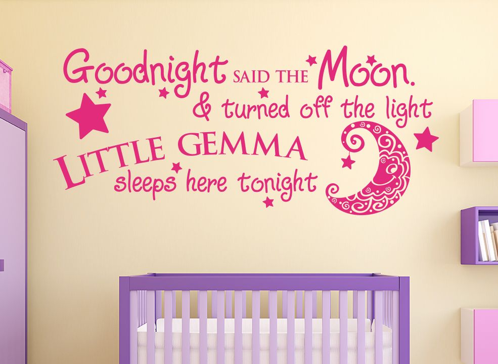 Goodnight Said The Moon Personalised Wall Sticker  sc 1 st  Pinterest & Goodnight Said The Moon Personalised Wall Sticker | Pinterest ...