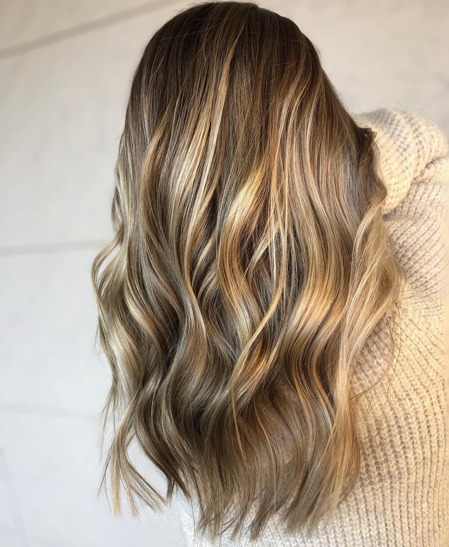 Balayage Hair Color Idea,Fall balayage hair color #balayage #blondebalayage #foilayage #blondehair #blondehighlights #fallhair #hairpainting