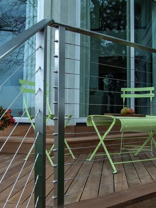 Stainless Steel Cable Railing - Rainier Flat Top Rail from AGS ...