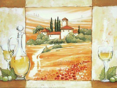 Alberti-Vino-Bianco-Kueche-Wein-Italien-Fertig-Bild-Wandbild - wandbilder für küche
