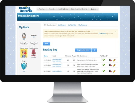 FREE Online program for tracking students minutes of reading ...