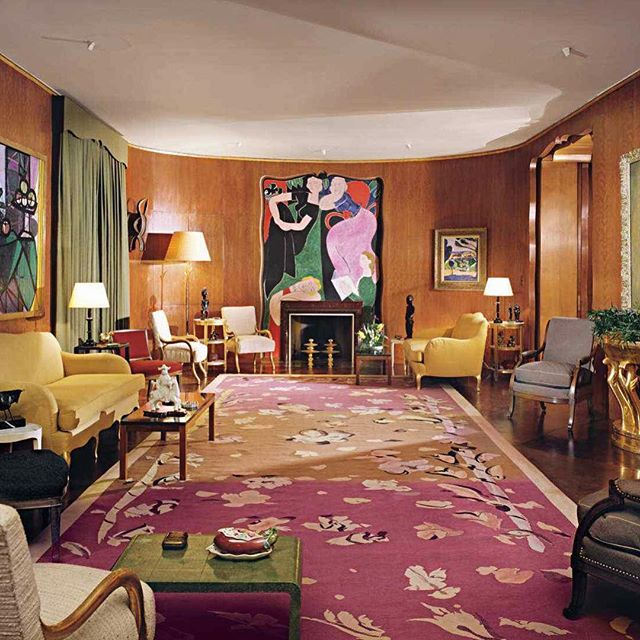 Nelson Rockefeller's NY drawing room by #JeanMichelFrank