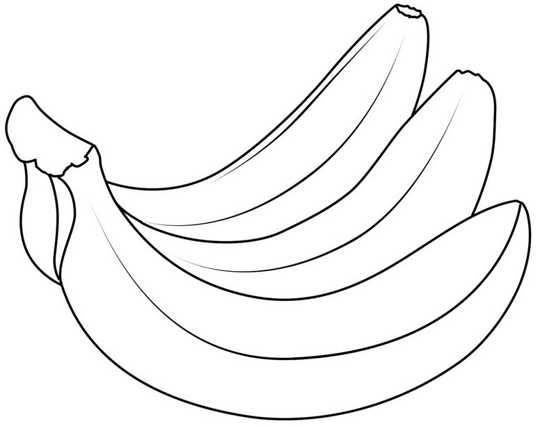 Bananas Fruit Coloring Pages Printable Fruit Coloring Pages