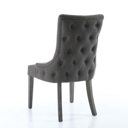 Remarkable 2 X Grigio Grey Linen Carver Dining Or Accent Chairs Uwap Interior Chair Design Uwaporg