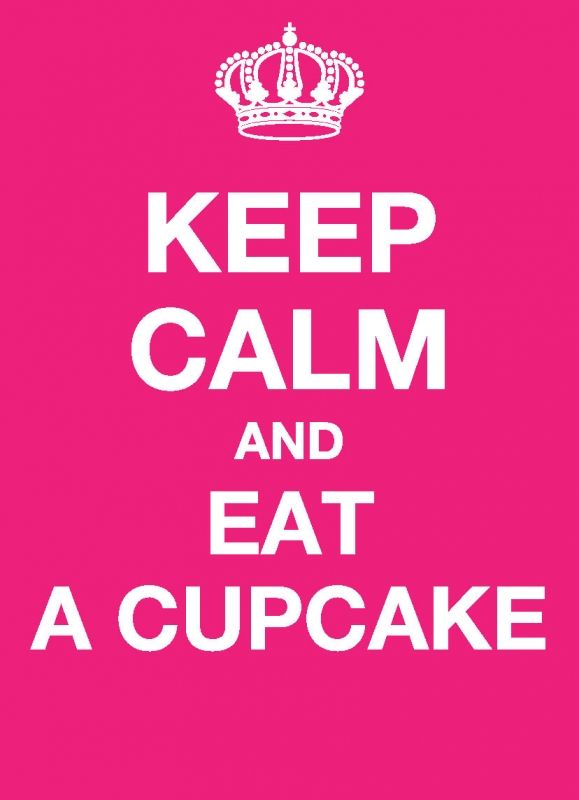 KC019 - Ansichtkaart - Keep calm and eat a cupcake | Keep Calm | kaartfanaat