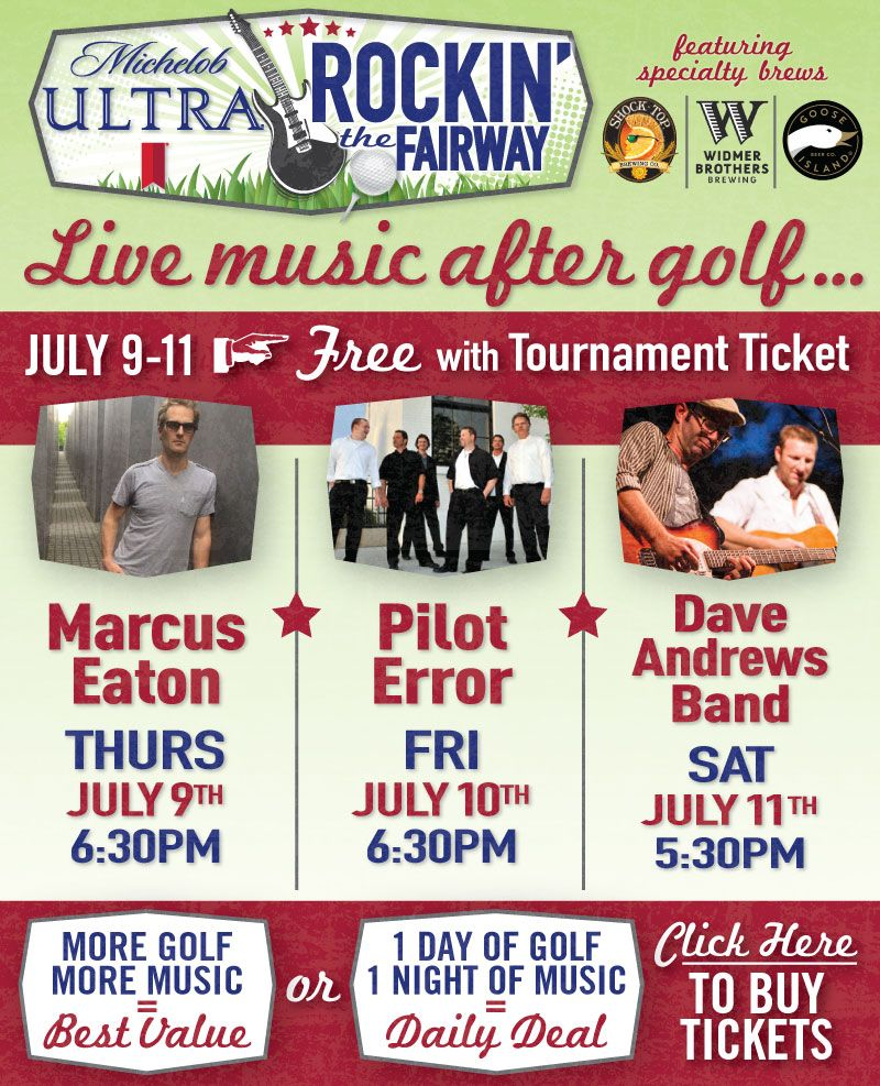 Rockin' the Fairway! Part of Albertson's Boise Open. Tickets include golf and 3 evening concerts!