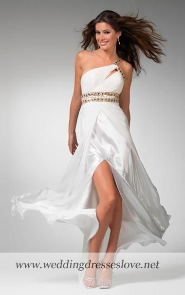 greek inspired wedding | Oblique Greek Style Dress - Prom Dresses ...