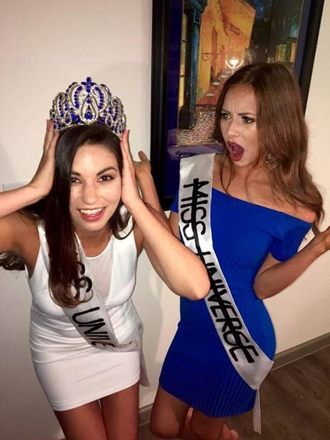 that miss universe scandal funny halloween costume idea for bffs
