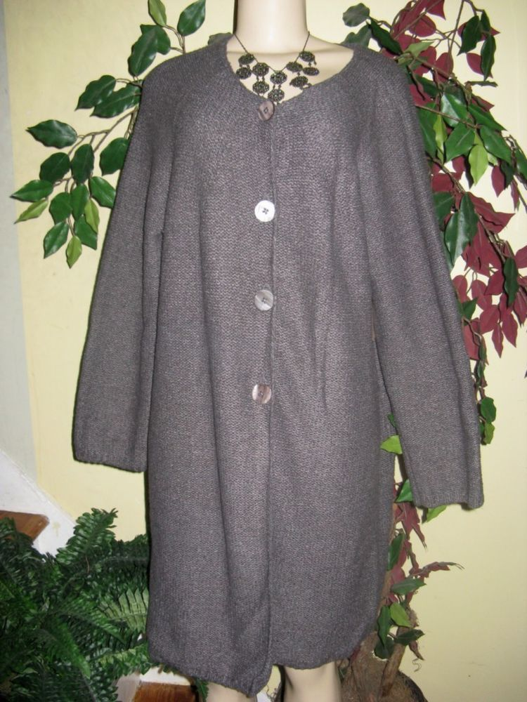 4d935aeef790 Women s Winter Fall Coldwater Creek Duster Long Sweater cardigan ...