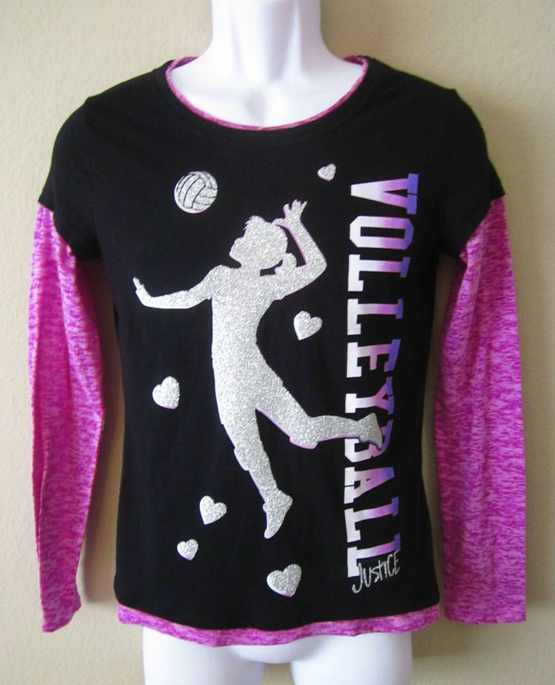 Justice Be Sure To Take A Look At This Girls Size 16 Justice Volleyball Shirt Just Perfect For Showing Team Spir Girls Size 16 Size Clothing Girl Fashion