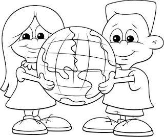 Aula Creativa Imagenes Para Ambientar El Aula Earth Day Coloring Pages Coloring Pages Coloring Books