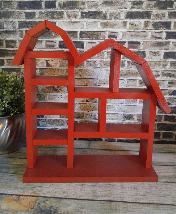 Hey, I found this really awesome Etsy listing at https://www.etsy.com/listing/275977472/red-wooden-rustic-barn-shelf-farmhouse