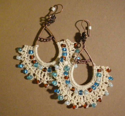 Crochet Earrings - CROCHET #crochetedearrings