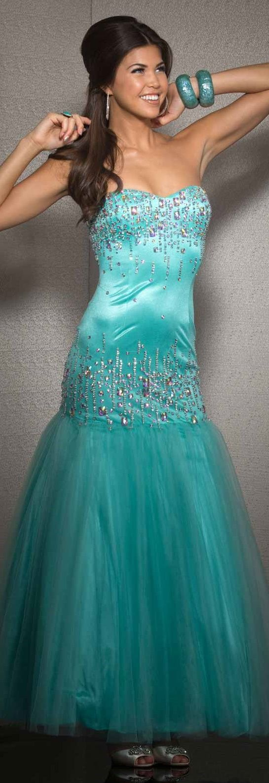 Clarisse prom dress mermaid prom and turquoise