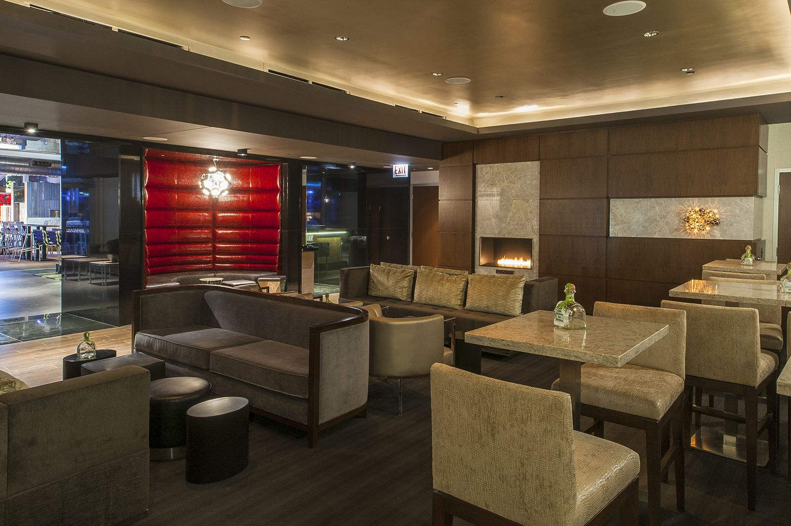 Luxurious Seating At IO Urban Roofscape Indoor Lounge The Godfrey Hotel Chicago