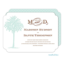 Luau, Tropical, Pool and Beach Party palm tree party invitations