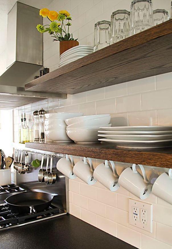 lovely kitchen storage ideas | 16 Lovely Ideas For Kitchen Open Shelves | Home decor ...