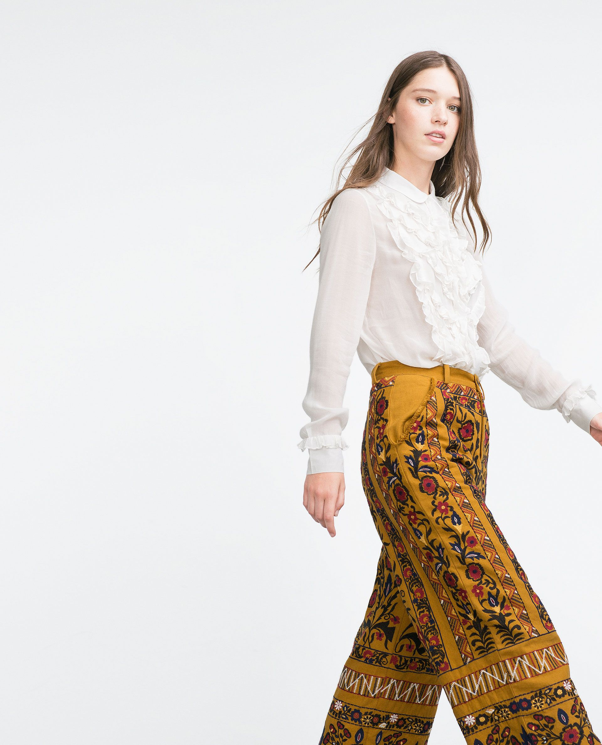 EMBROIDERED TROUSERS - TRF - NEW IN | ZARA Ukraine