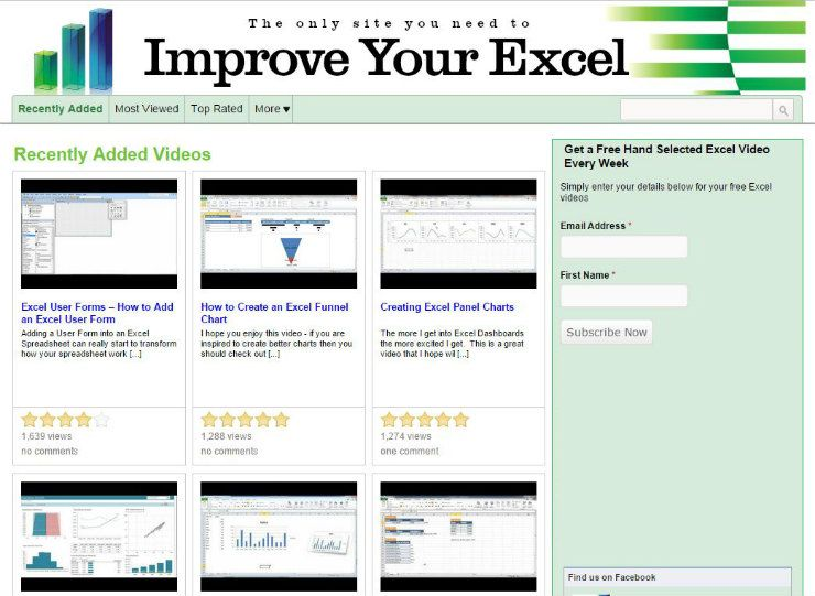Learn Excel Without Spending a Penny 40 Free Excel Tutorials - Free Online Spreadsheet Templates