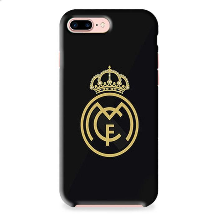 Real Madrid Logo Two Tone Color Iphone 7 3d Case Dewantary Black Iphone 7 Iphone 11 Pro Case Case