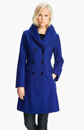 d5bb0705a GUESS Double Collar Coat (Online Exclusive) available at  Nordstrom  Fabulous style and that lovely bright blue color that is so.in