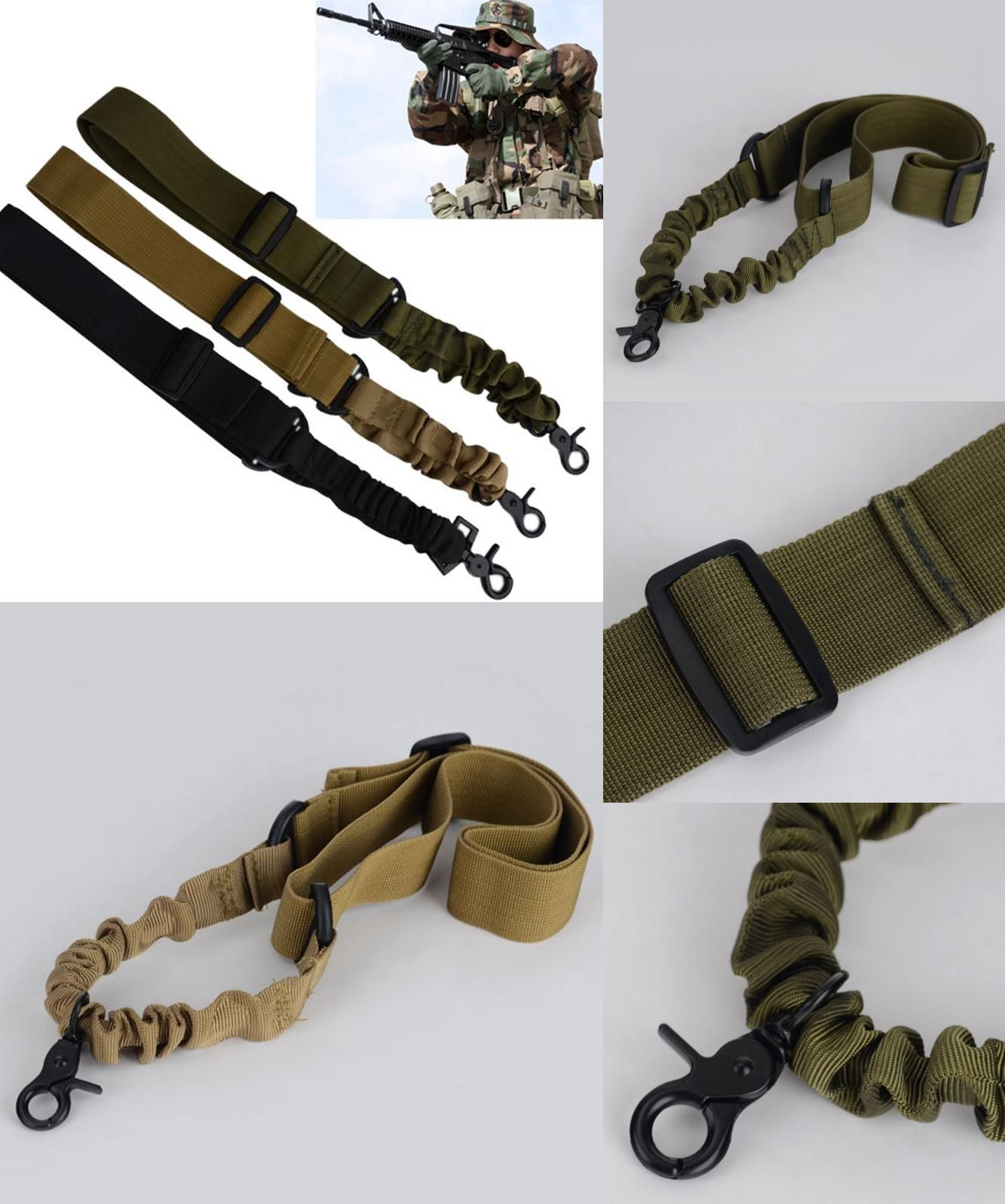 Adjustable 1000D Nylon Airsoft Tactical Military Rifle Sling Strap Gun Rope